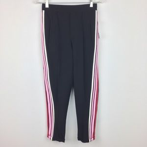 Zara Basic Striped Athletic Track Pants
